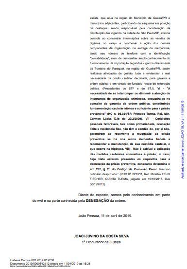 mp ultima - CRISE E RACHA NO MP: Parecer pela soltura de Roberto Santiago de Dr. Sagres é contestado pelo GAECO - VEJA NOTA