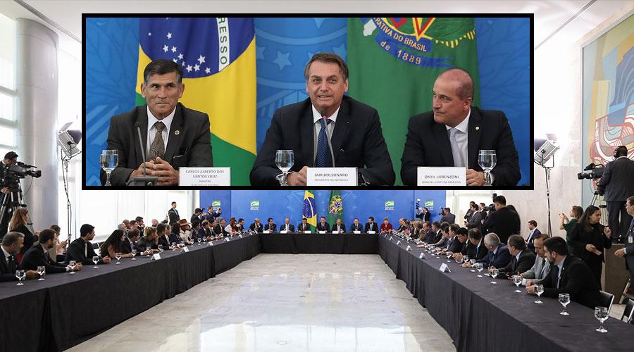 santos cruz bolsonaro onyx parlamentares - Julian Lemos revela encontro com Bolsonaro em Brasília e defende COAF com Sérgio Moro