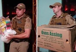 PMs se comovem após homem com sete filhos ser preso por furtar comida e doam cestas básicas
