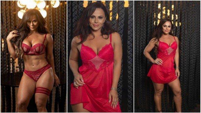 Viviane Araújo faz ensaio de lingerie para o dia dos namorados; VEJA FOTOS