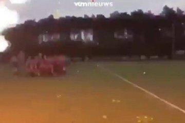 Comemoração de time de hóquei provoca choques e queimaduras em 20 pessoas