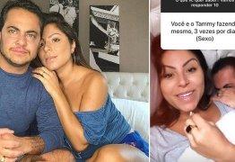 Thammy e Andressa relevam que já fizeram sexo a três: 'Com uma outra mulher'