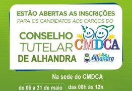 Abertas inscrições para novos membros do Conselho Tutelar de Alhandra – VEJA EDITAL