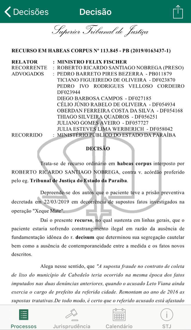 22457924 9646 4f0e 8754 b459929e23ab - EXCLUSIVO: Felix Fischer julga recurso de habeas corpus de Roberto Santiago, preso da Xeque Mate; saiba o resultado