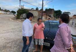 Eduardo Carneiro aproveita recesso na ALPB para acompanhar execução de obras em João Pessoa
