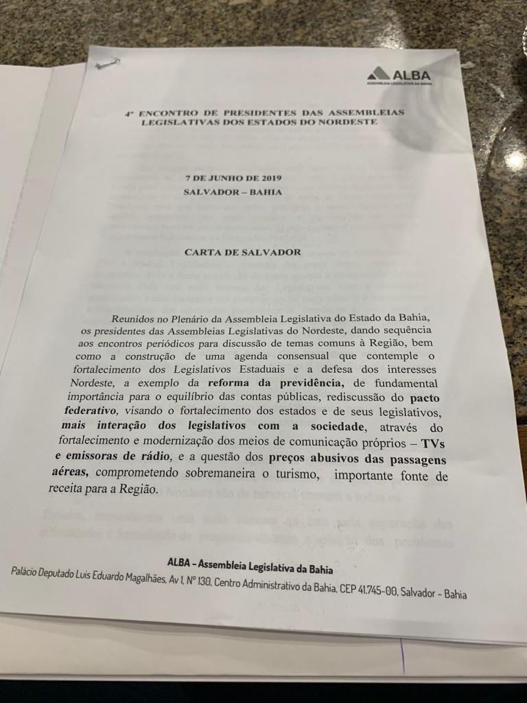 5fe7f907 cc32 4a2c bf15 1c8e004f8efd - Adriano Galdino participa de reunião de presidentes de Assembleias Legislativas e discute melhorias para o Nordeste