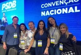 Edna e João Henrique participam de convenção nacional do PSDB que elegeu novo presidente do partido