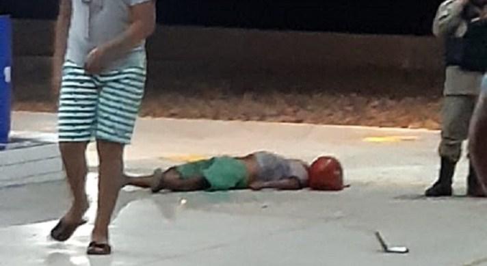 Assaltante em Aparecida 04.06.2019 a - Tentativa de assalto termina com frentista com um tiro na boca e assaltante ferido no Sertão da Paraíba