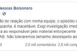 'NÃO TOLERAMOS TAMANHO DESRESPEITO': Bolsonaro reage a episódio de cocaína em avião da FAB