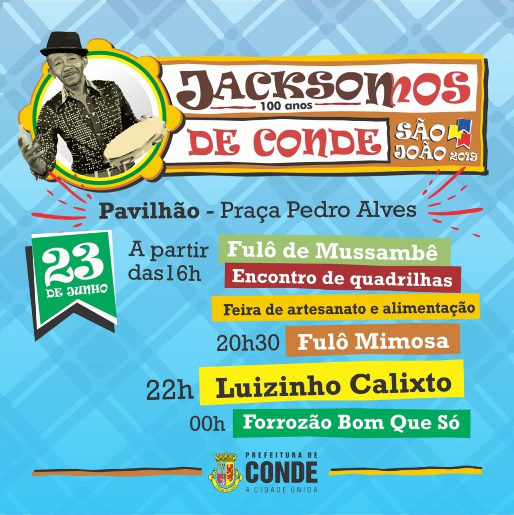 Centro dia 23 - Festejos juninos no Centro de Conde tem shows de Luizinho Calixto e Amazan