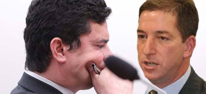 Moro e Glenn Greenwald - 'Quero ver moro se segurar na cadeira depois das próximas revelações', diz Glenn em tom de 'ameaça'