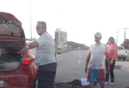 Motorista de Uber atropela ciclista na BR-230 em Cabedelo
