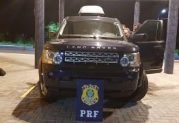 Carro de luxo roubado é recuperado pela PRF