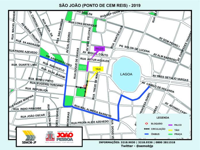 aaa 8 696x524 - TRÂNSITO EM JOÃO PESSOA: Apresentações de São João alteram rotas de tráfego; veja os pontos