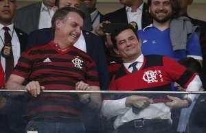 age20190612198 300x194 - HOMENAGEM: Ao lado de Bolsonaro, Moro é aplaudido em jogo do Flamengo