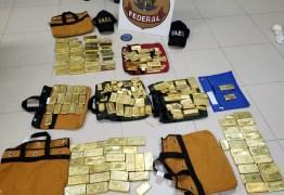 R$ 18 MILHÕES: Polícia apreende 111 kg de ouro e avião no aeroporto de Goiânia
