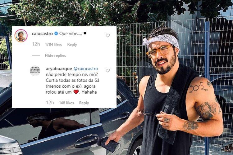 caio castro 1 - Solteira, Sasha Meneghel recebe comentário de Caio Castro e fãs apoiam romance