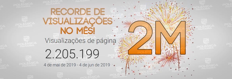 montagem482 2 - 2 MILHÕES DE VISUALIZAÇÕES: Jornalismo do Polêmica Paraíba comemora marca histórica e agradece reconhecimento dos paraibanos