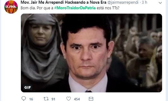 moro03 - #MOROTRAIDORDAPÁTRIA: Protesto virtual contra ministro Sérgio Moro alcança Trending Topics do Twitter