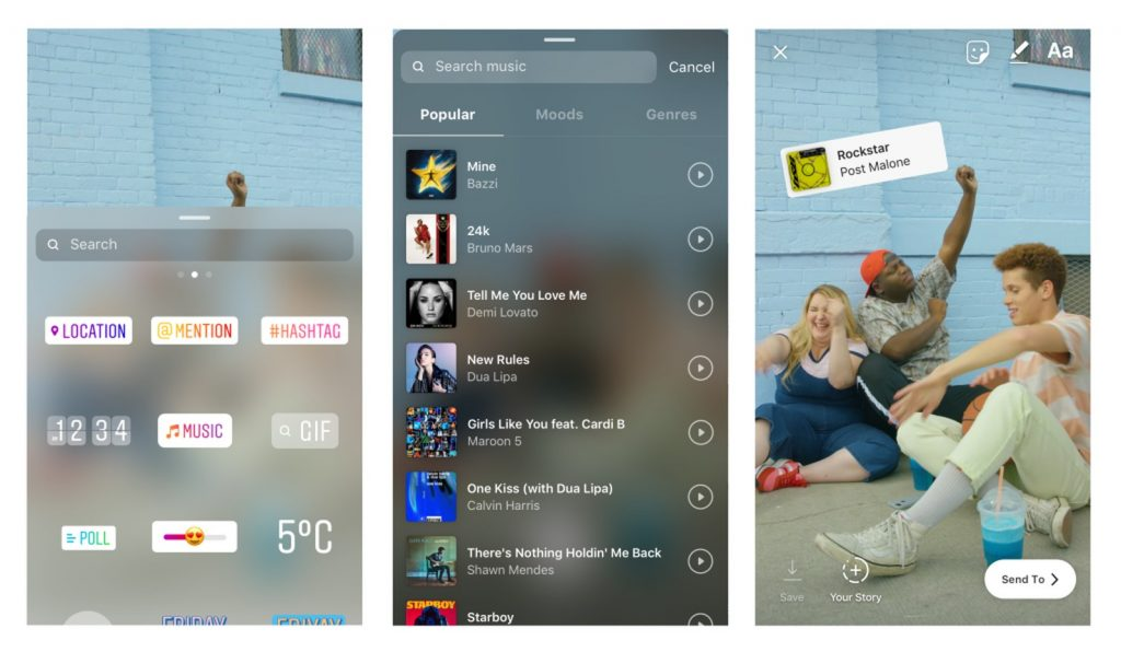 music sticker updated 1024x596 - Instagram libera função que permite colocar música nos stories; veja como funciona