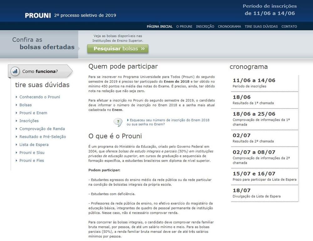 prouni20192 - 169 MIL BOLSAS DE ESTUDO: Prouni abre inscrições nesta terça-feira