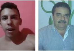 Jovem acusa prefeito de Curral de Cima de agressão; VEJA VÍDEO