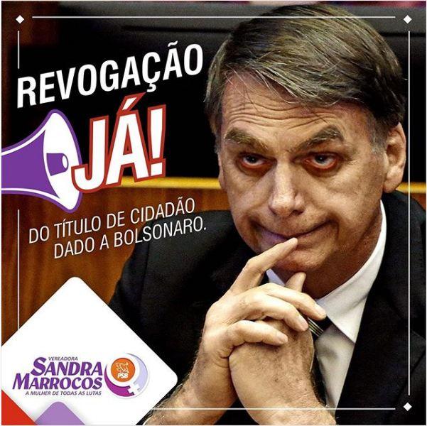 Capturar 75 - Vereadora Sandra Marrocos pede revogação de honraria a Bolsonaro em João Pessoa
