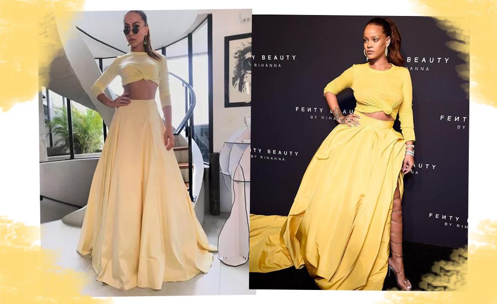 Cine sabrina rhianna 1024x627 - Sabrina Sato mostra que é fã do estilo de Rihanna ao usar o mesmo vestido da cantora