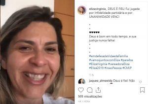 ELIZA VIRGÍNIA 300x211 - Emocionada, Eliza Virgínia comemora vitória no TRE em ação de infidelidade partidária; VEJA VÍDEO