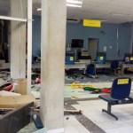 agencia ficou destruida banco paraiba areia - Paraíba registra redução de 60% nos ataques contra bancos em 2019