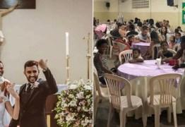Casal festeja casamento dando jantar a 160 pessoas carentes