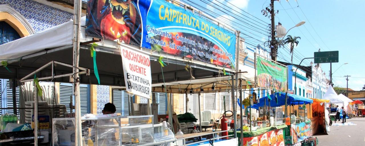 barracas da festa das neves walla santos - Justiça autoriza participação de ambulantes na Festa das Neves