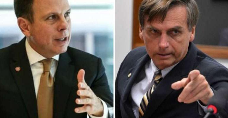 bolsonaro doria e1564484598366 - 'Esse está morto', afirma Bolsonaro sobre chances de Dória para 2022