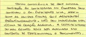 carta2 - TESTEMUNHA: Não menti nem fui coagido a incriminar Lula, diz empreiteiro da OAS