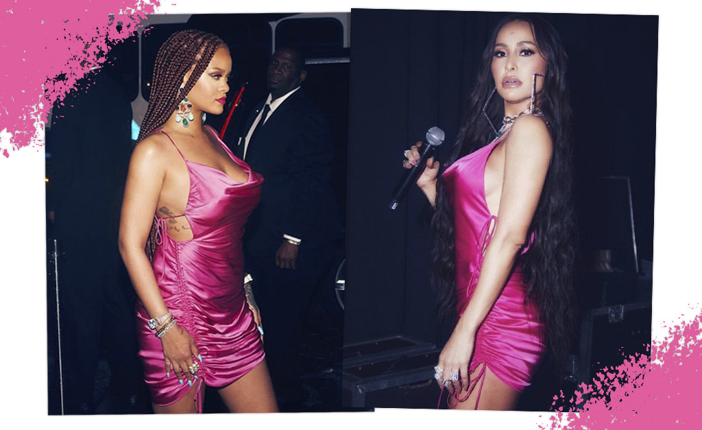 cine sabrina vestido  1024x627 - Sabrina Sato mostra que é fã do estilo de Rihanna ao usar o mesmo vestido da cantora