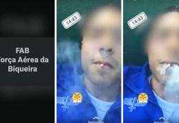 Soldado da Aeronáutica grava vídeo fumando e chama FAB de 'Força Aérea da Biqueira' – VEJA VÍDEO