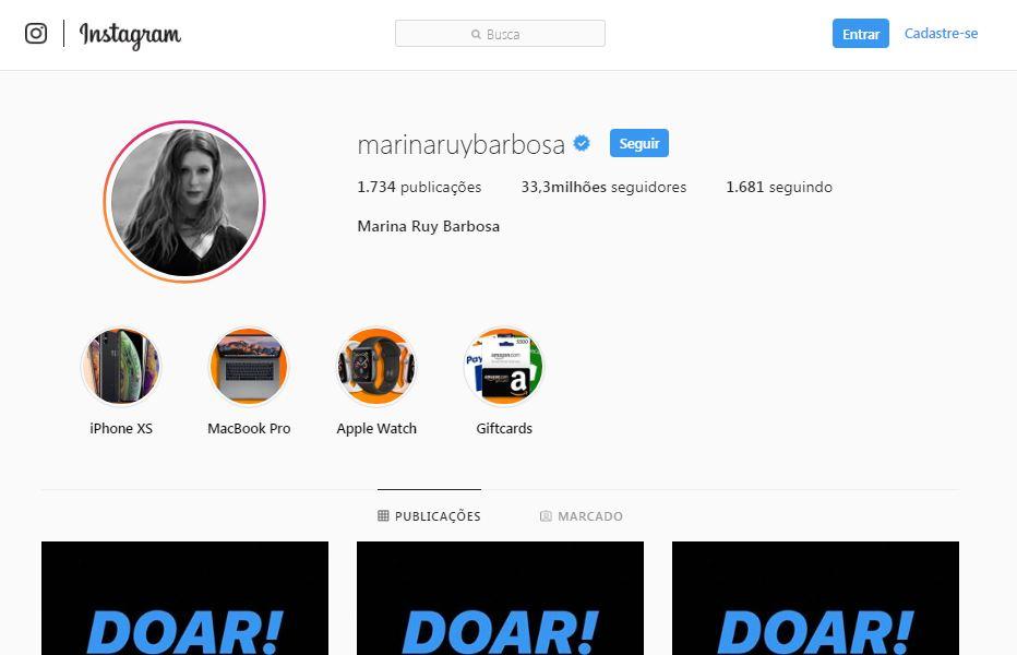 marina ruy barbosa instagram hackeado - Marina Ruy Barbosa tem perfil na rede social hackeado