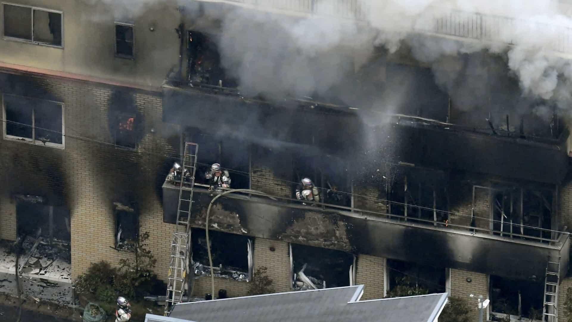 Fogo em estúdio de animação deixa pelo menos 24 mortos