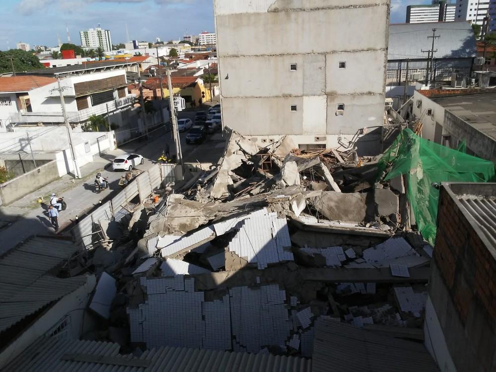 Conselho de Arquitetura se solidariza após queda de prédio em João Pessoa e diz que engenheiro deve explicar incidente