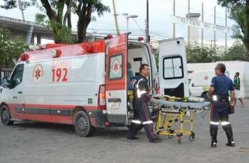 samu 350x229 - ATROPELADO E ARRASTADO: Idoso de 70 anos é atingido por caminhão na Avenida Josefa Taveira