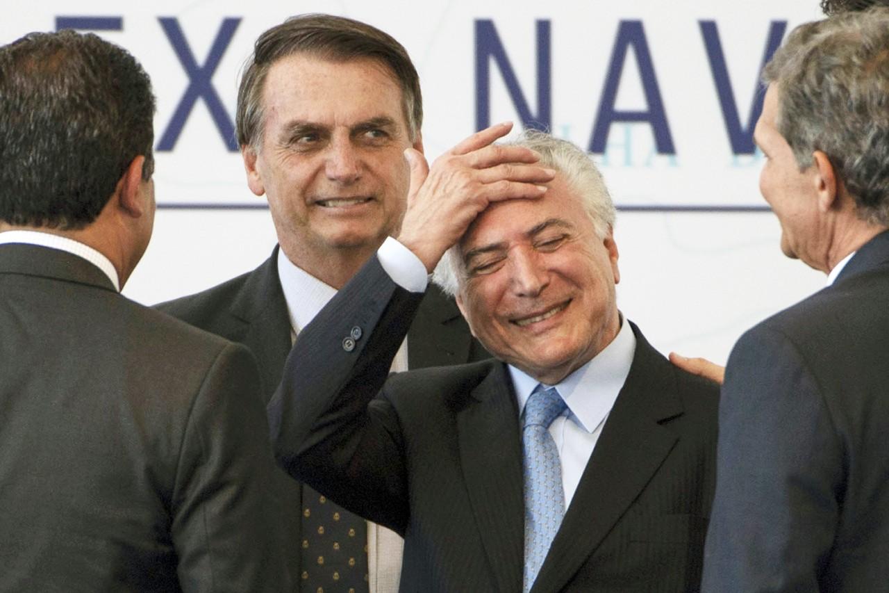 temer bolsonaro - Temer: 'O governo Bolsonaro vai bem porque está dando sequência ao meu'