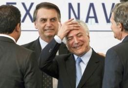Temer: 'O governo Bolsonaro vai bem porque está dando sequência ao meu'