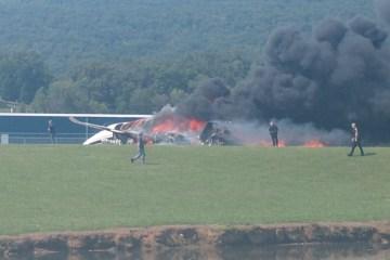 20198151812194 WITT O - TRAGÉDIA: avião com Earnhardt Jr. e família cai e pega fogo