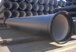 Cerca de 460 tubos de metal usados para a construção da adutora Transparaíba são furtados