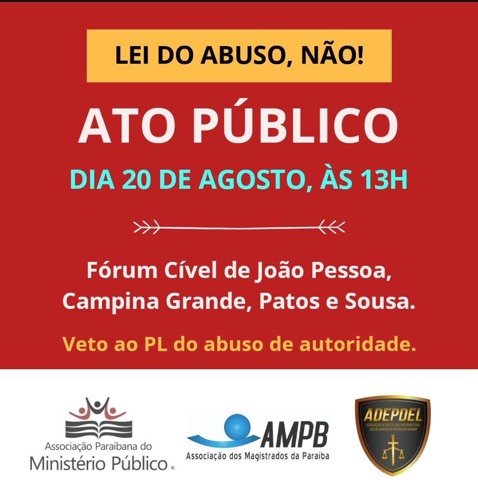 6a6d0741 babf 4412 8d40 df7c0f4f167a - 'Lei do abuso, não': Desembargador Zeca Porto lamenta omissão do legislativo paraibano e convoca juristas para ato público