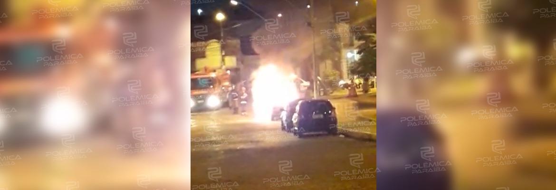 7a8ef55d cf0f 4ba1 9b4e 966d29023ad7 - Nuvem de fumaça aterroriza moradores de Cajazeiras após carro incendiar-se no Centro da cidade - VEJA VÍDEOS