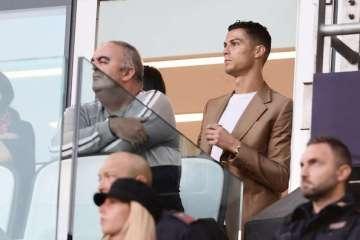 AAG4KKW - Defesa de Cristiano Ronaldo admite ter pago para encerrar caso de estupro que atacante foi acusado