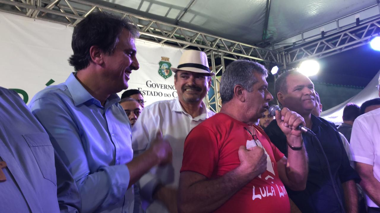 Deputado Jeová Campos participou da solenidade com o governador Camilo Santana - Jeová reivindica que PB dê sua contrapartida para concluir obra de interligação de Mauriti (CE) a Bonito de Santa Fé (PB)