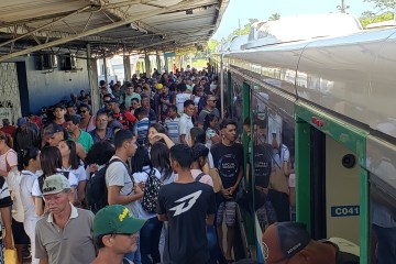 Mesmo com reajuste na tarifa, CBTU registra 46 mil pessoas a mais andando de trem em julho