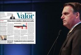Bolsonaro indica uso de Medida Provisória para se vingar do jornal Valor Econômico